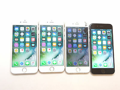 Lot of 4 Apple iPhone 6 A1549 AT&T 16GB Smartphones All Power On AS-IS GSM
