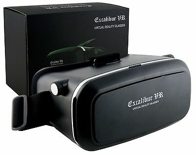 BCL Excalibur VR Headset With Drop Down Phone Carrier for Smartphones
