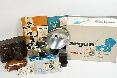 Argus C-3 Match-Matic 35Mm Rangefinder Camera Kit **technician Refurbished**