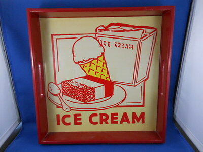 "Wooden Serving Tray ""ice Cream"""
