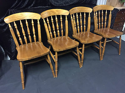 Set 4 Chairs Kitchen Dining Quality Windsor Stick Back Victorian Country Style