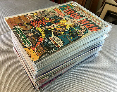 Lot (60) Marvel Comics (33) The Invincible Iron Man, Thing, New Mutants Avengers
