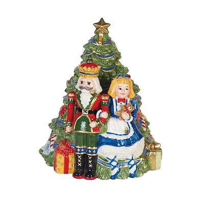 Fitz And Floyd First Ladies Nutcracker Cookie Jar Kennedy White House Christmas