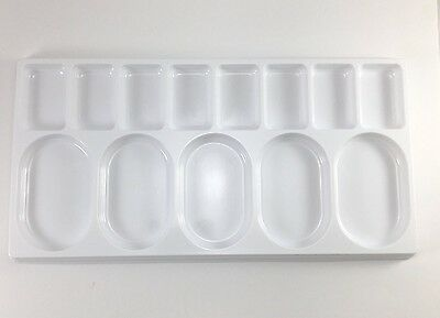 Set of 3 13xWell Disposable Plastic Palette Tray For Paint & Ink 24.8x12.7