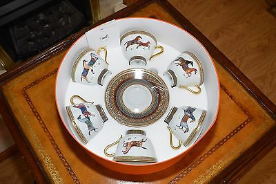 Hermes cups and saucer set of 6 - Cheval d'Orient brand new