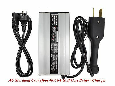 New Crowsfoot 48V/6A Golf Cart Battery Charger Star Club Car DS EZgo TXT Yamaha