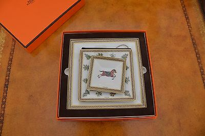 Hermes Cheval d'Orient Giftbox of 3 square plates