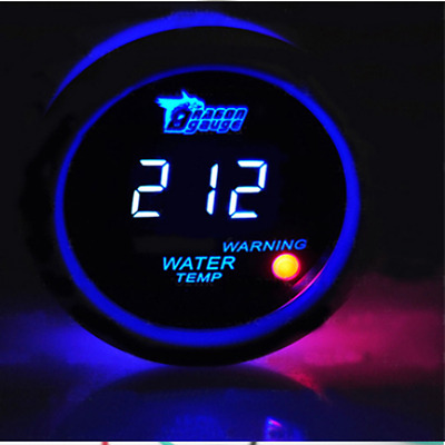 "52mm 2"" Car Digital Water Temp Gauge Temperature Meter With Sensor Blue LED"