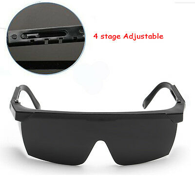 New Safety Goggles Cutting Welders Protective Adjustable Glasses Lenses Black