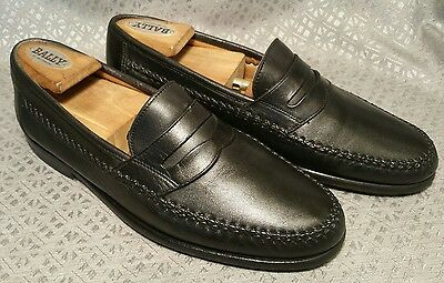 Salvatore Ferragamo Made In Italy Men's Black Leather Slip On Shoes Size 7.5