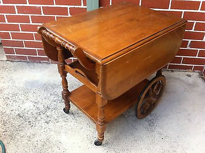 Serving cart Colonial American Antique
