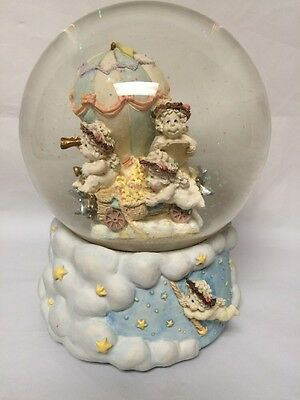 "Dreamsicles D9601- Westland Music Snow Water Globe ""Fly Me To The Moon"""