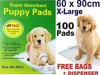 100x PUPPY DOG TRAINING PEE WEE PADS 60 x 90CM MAT TRAINER TOILET EXTRA LARGE XL