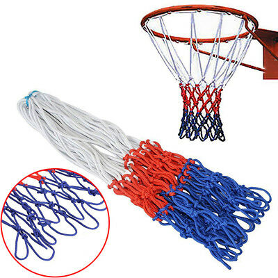 Nylon 5 mm Heavy Duty Professional Basketball Net 12 Loop Sport Red White Blue