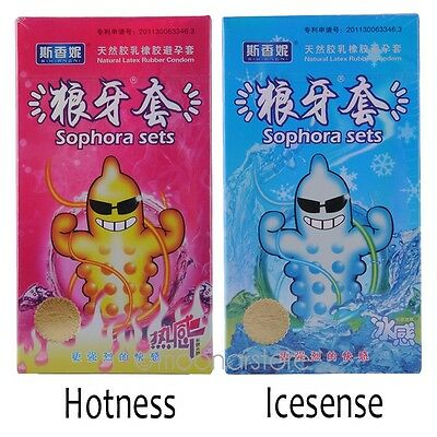 12pcs Thin G-Point Latex Contraceptives Condoms Lubricated Ice Hotness Feeling