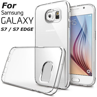 Shockproof Slim Crystal Clear TPU Case Cover For Samsung Galaxy S7 S6 Note 5 4 3