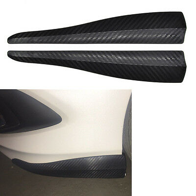 2x Carbon Style SUV Car Bumper Scratch Strip Scuff Guard Protector Steel Insert
