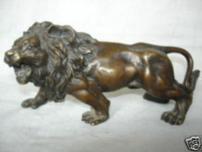 Exquisite Collectibles chinese bronze lion statue