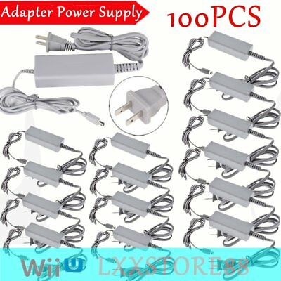 LOT 100 X AC Charger Home Power Supply Wall US Plug for Nintendo Wii U Gamepad B