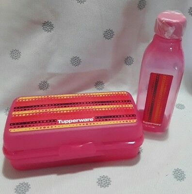 Tupperware snack keeper with 500ml bottle