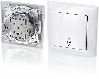 Up Double-Throw SwitchAll-in-oneFrame with Flush-Mounted Insert + Cover (Seri...