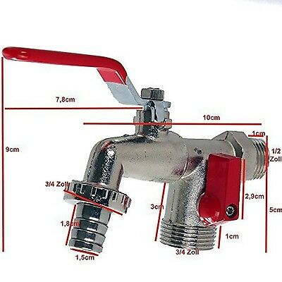 'Dual Fitting Tap Spout Ball Valve Tap 1/2(HAHN1)