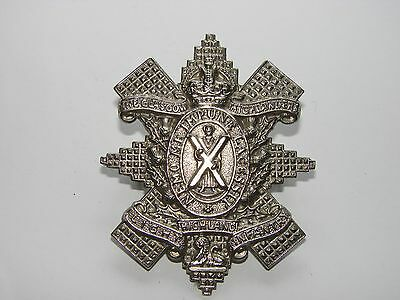 British WW2 Cap Badge The 1st Battalion The Glascow Highlanders, type #1