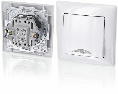 Up on/off switch with LED LightingAll-in-oneFrame with Flush-Mounted Insert +...