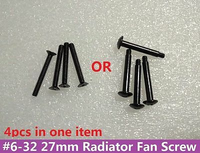 PC Case 4x #6-32 27mm*3mm Screw with Phillips Pan Head for Cooling Fan Radiator