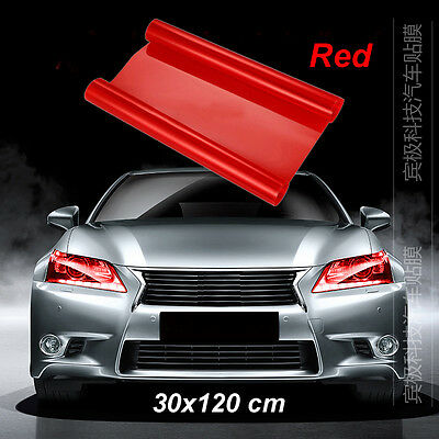 "Red Smoke Tint Headlight Fog Tail light Lamp Vinyl Film 12"" x 48"""