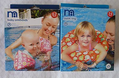 Mothercare Baby Armbands 0-2 yrs and Swim Ring 2-6 yrs