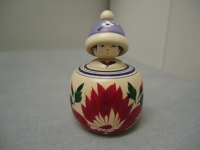 Japanese Kokeshi Doll With Hat