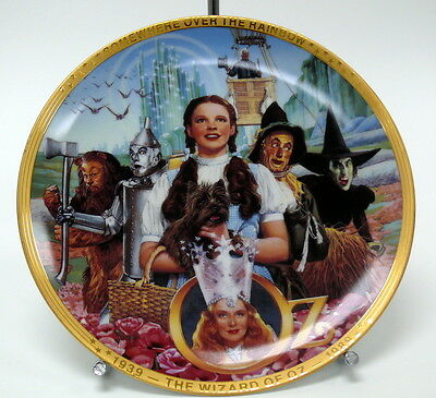 "Wizard of Oz ""Fifty Years of Oz"" Hamilton Collector Plate 1989 0005P   MD"