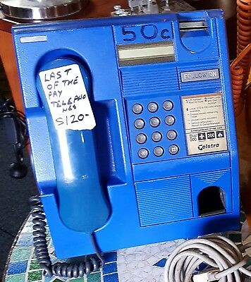 lonely old blue telephone