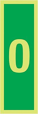 """Signs and Labels AMZFR00012M """"0"""" Safe Condition Safety Sign Nite Glo 1.2 mm R..."""
