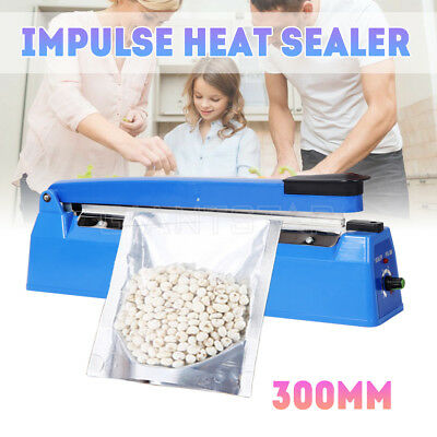 "300mm Impulse Heat Sealer 12"" Electric Plastic Poly Bag Hand Sealing Machine AU"