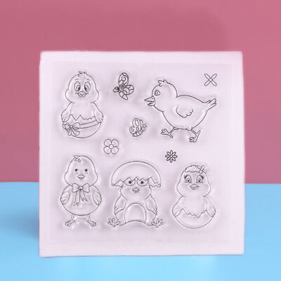 Cute Chick Pattern Transparent Silicone Rubber Clear Stamps Scrapbooking DIY