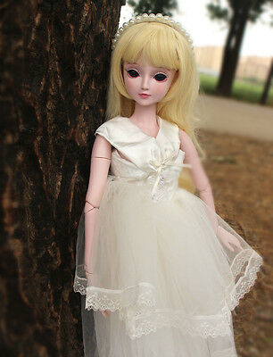 "24"" New 1/3 Handmade PVC BJD MSD Lifelike Doll Joint Dolls Baby Gift New Lilly"
