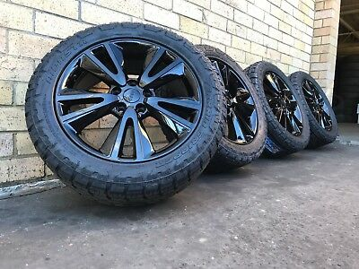 Jeep Cherokee Limited Edition 20 Inch Wheels In Custom Black / New Tyres 20 Inch