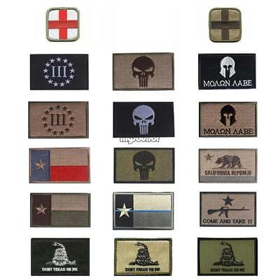 18-Models Punisher SWAT Militär Tactical Patch Army Moral Abzeichen Armband NEW