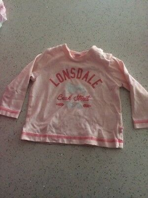 Girl Lonsdale Top Size 00
