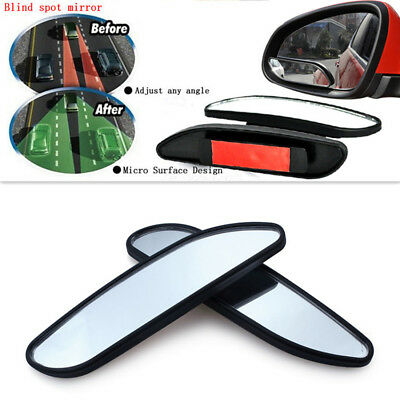 2x Car Auxiliary Blind Spot Convex Mirror Rear View Adjustable Wide Angle Mirror