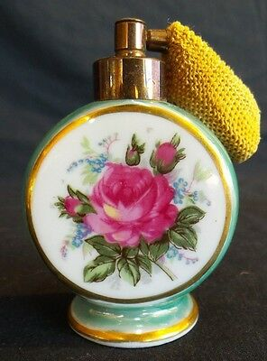 Vintage Hand Painted Porcelain Perfume Bottle