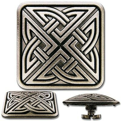 Celtic Knotwork No. 4 Screwback Concho Decorative Svrew Back Rivet
