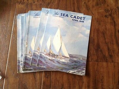 The Sea Cadet magazine. Complete Year 1946. Vintage Naval publication.