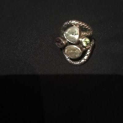 Aides Silver Ring US Size 6