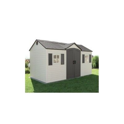15X8 Lifetime Products  Garden Shed Single Entrance