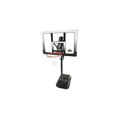 52 In. Shatter Proof Basketball Power Lift Portable System With Orange Slam-It R