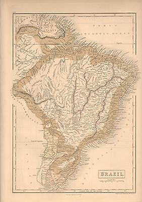 1850 Antique Map-Brazil