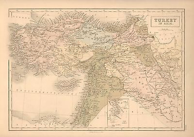 1850 Antique Map-Turkey In Asia